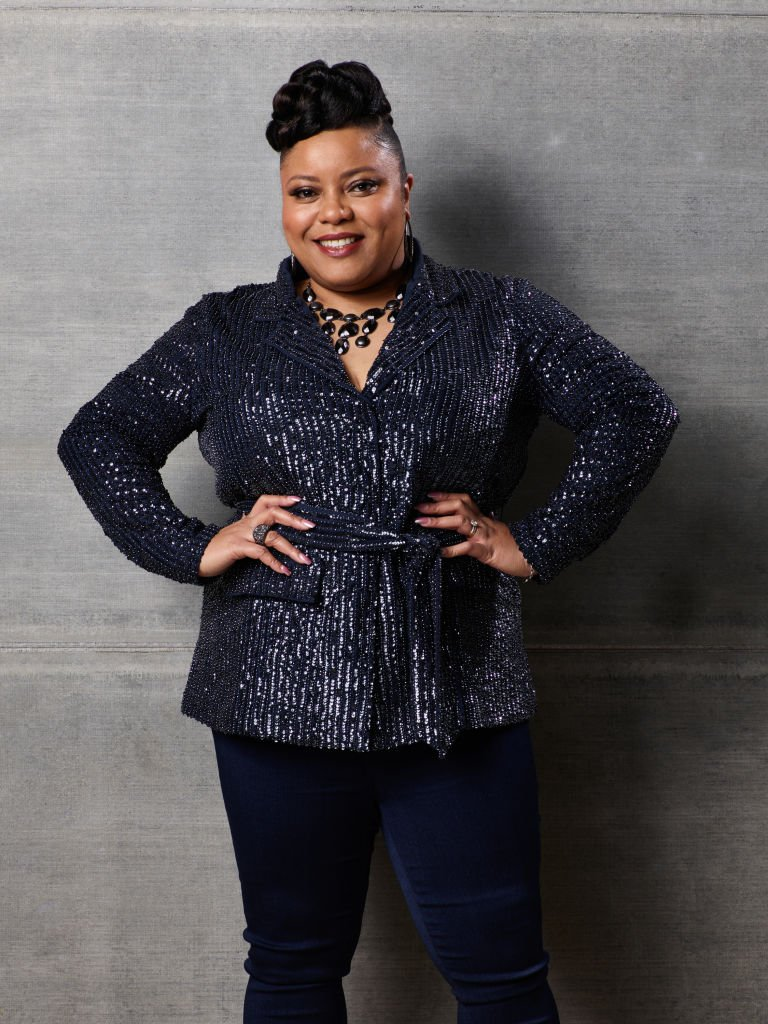"Toneisha Harris on January 28, 2020 in ""The Voice"" studios 