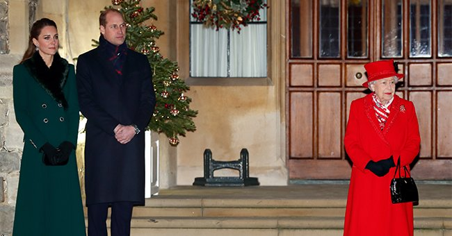 Kate Middleton & Prince William Join Queen Elizabeth in a Rare Visit since the Pandemic Started