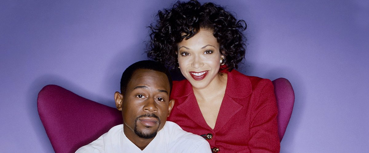 "Martin Lawrence and Tisha Campbell of the tv show ""Martin"" pose for a portrait in Los Angeles 