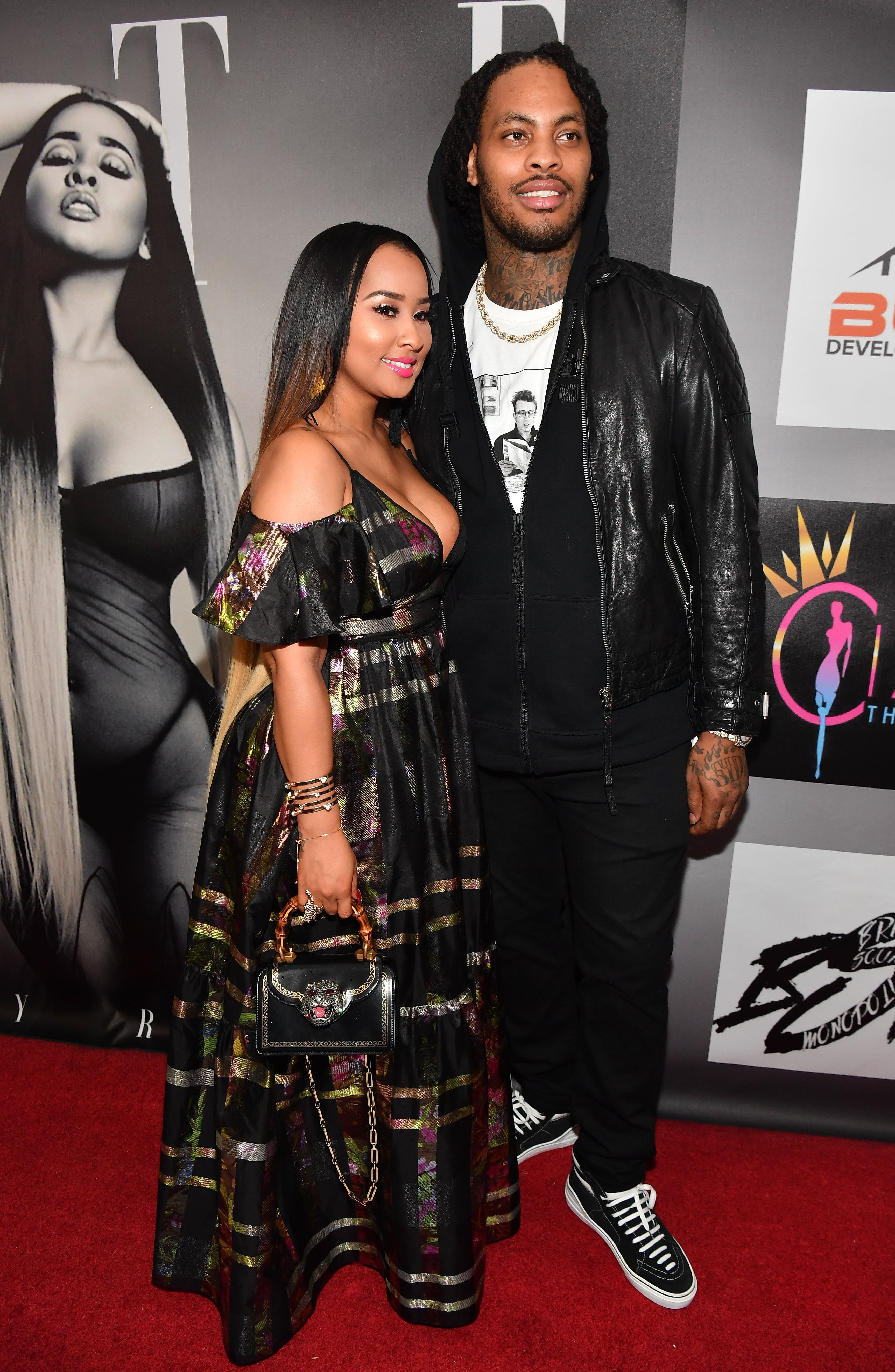 """Tammy Rivera and Waka Flocka at the release party of Tammy's """"Fate"""" EP in April 2018. 