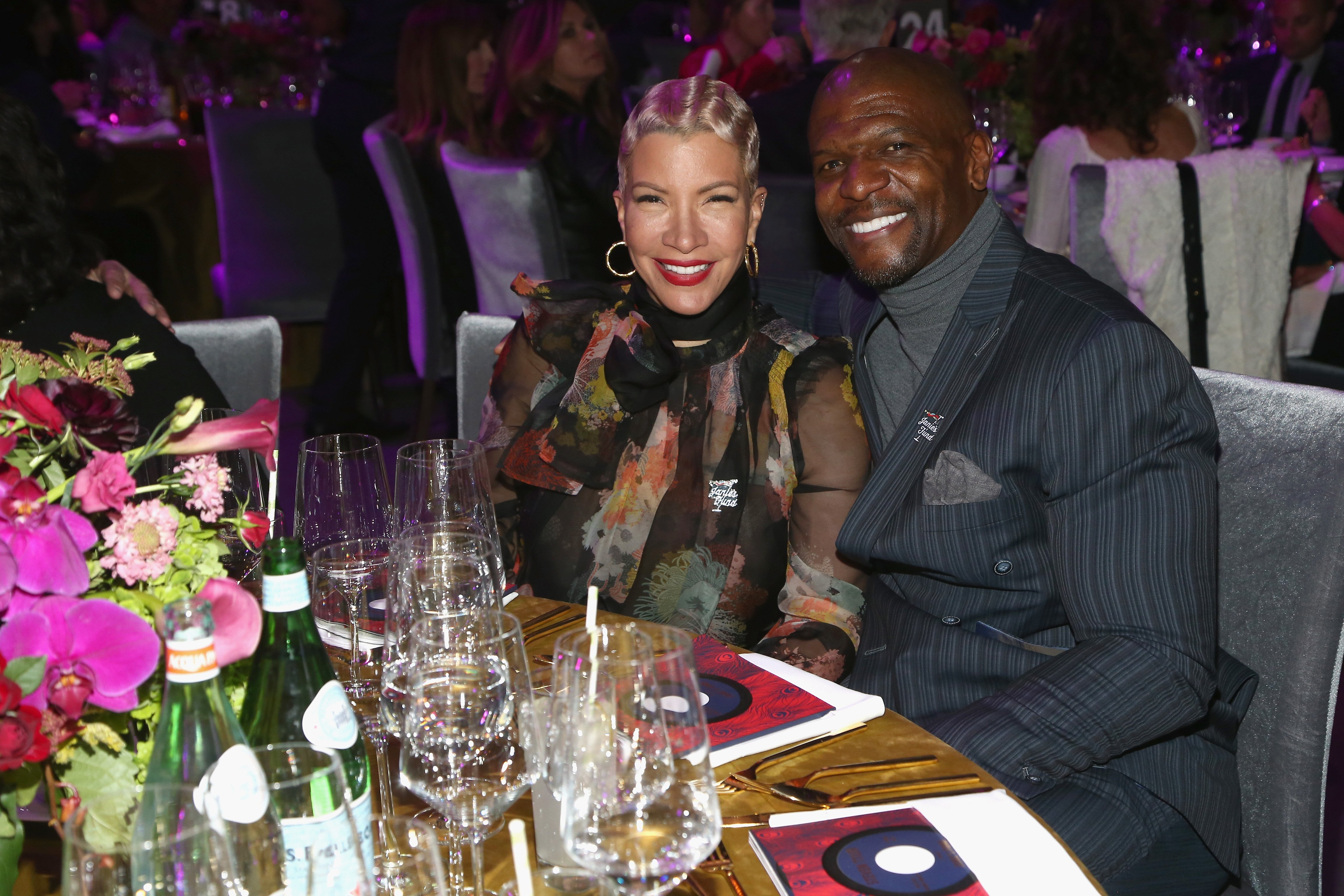 Rebecca and Tery Crews at Steven Tyler and Live Nation presents Inaugural Janie's Fund Gala & GRAMMY Viewing Party on January 28, 2018. | Photo: GettyImages