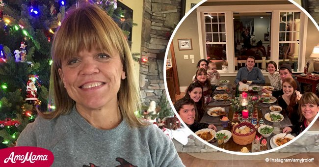 Amy Roloff shares a sweet photo of her whole family celebrating Christmas together
