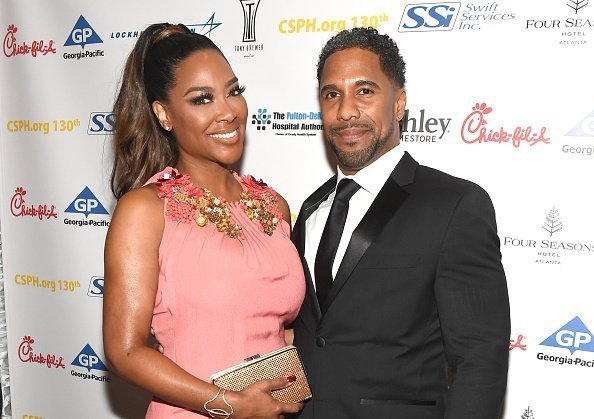 Kenya Moore and Marc Daly attend Carrie Steele-Pitts Home 130th Anniversary Gala at Four Seasons Hotel on March 24, 2018 | Photo: Getty Images