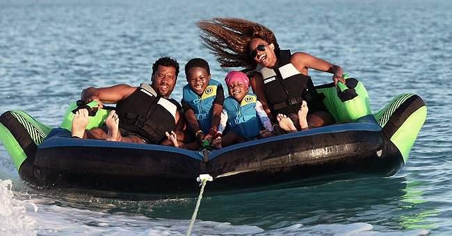 Ciara Is All Smiles with Her Son, Daughter & Husband on a Boat during a Family Trip (Photos)