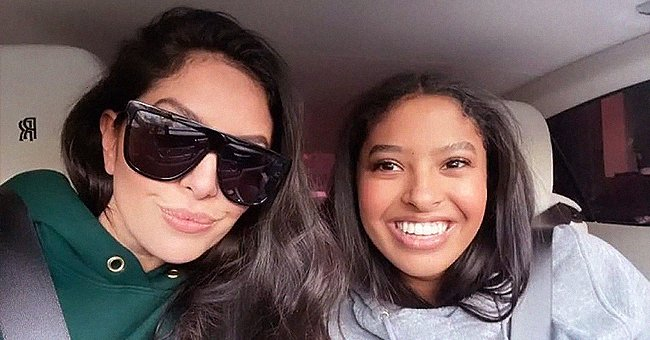 Vanessa Bryant & Eldest Daughter Natalia Flash Adorable Smiles Posing in a Lavish Rolls Royce