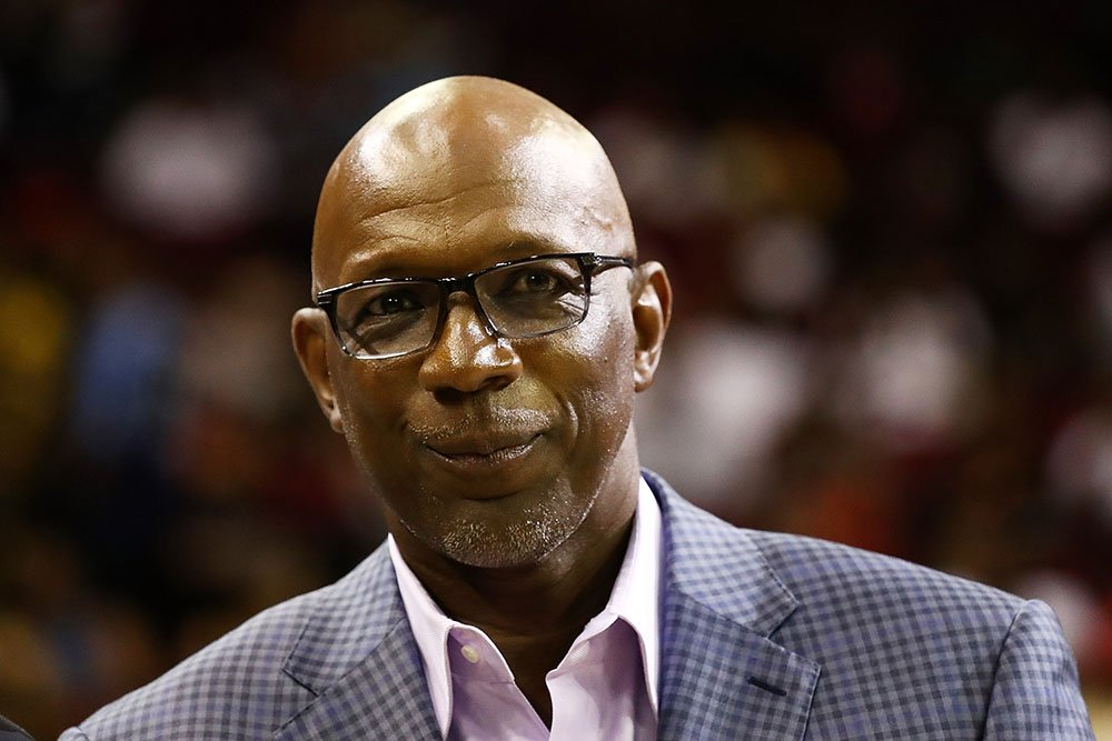 Clyde Drexler is presented with a proclamation during week one of the BIG3 three on three basketball league at Toyota Center on June 22, 2018 in Houston, Texas. I Image: Getty Images.