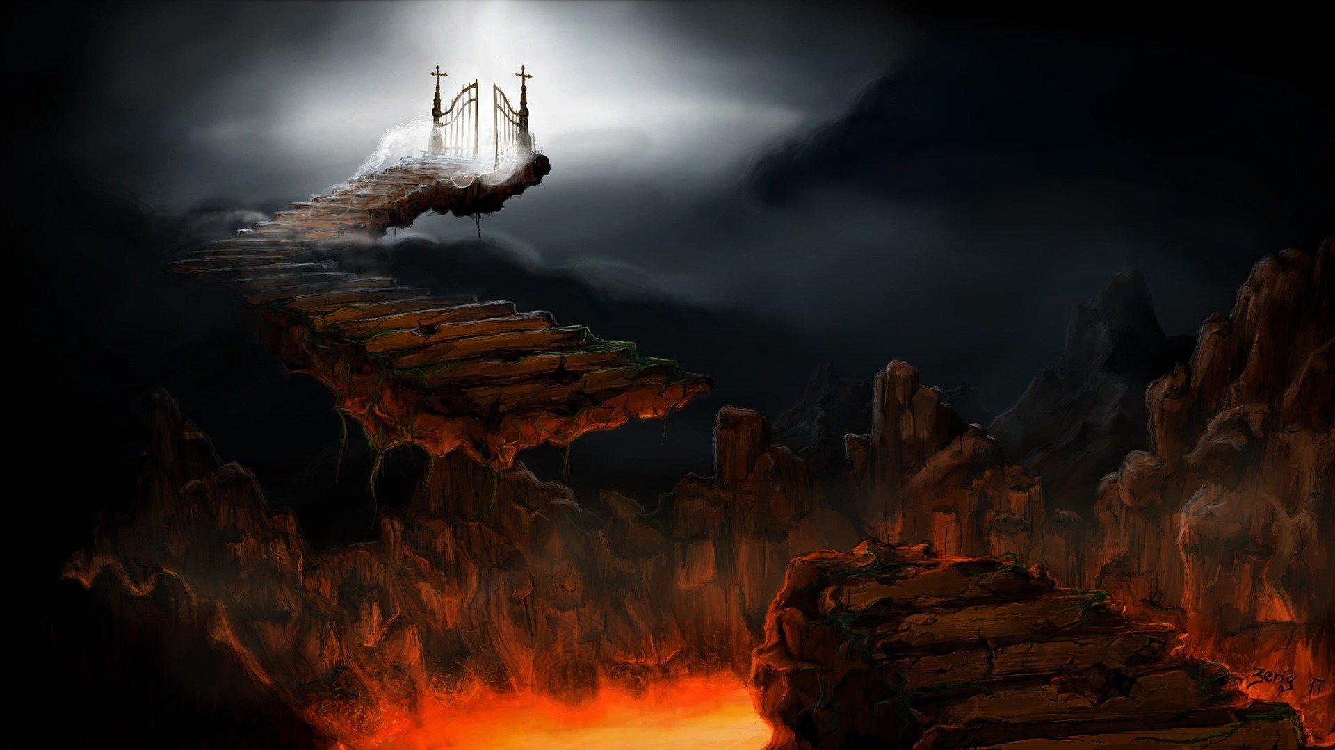 Cielo e infierno. Fuente: Pixabay