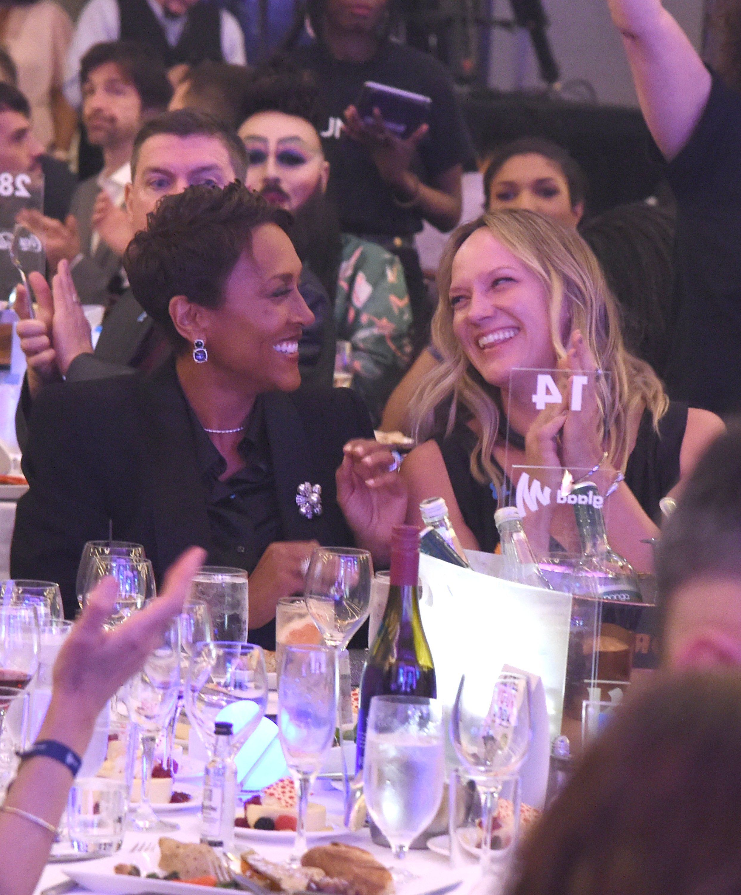 Robin Roberts and Amber Laign attend the 29th Annual GLAAD Media Awards. | Source: Getty Images