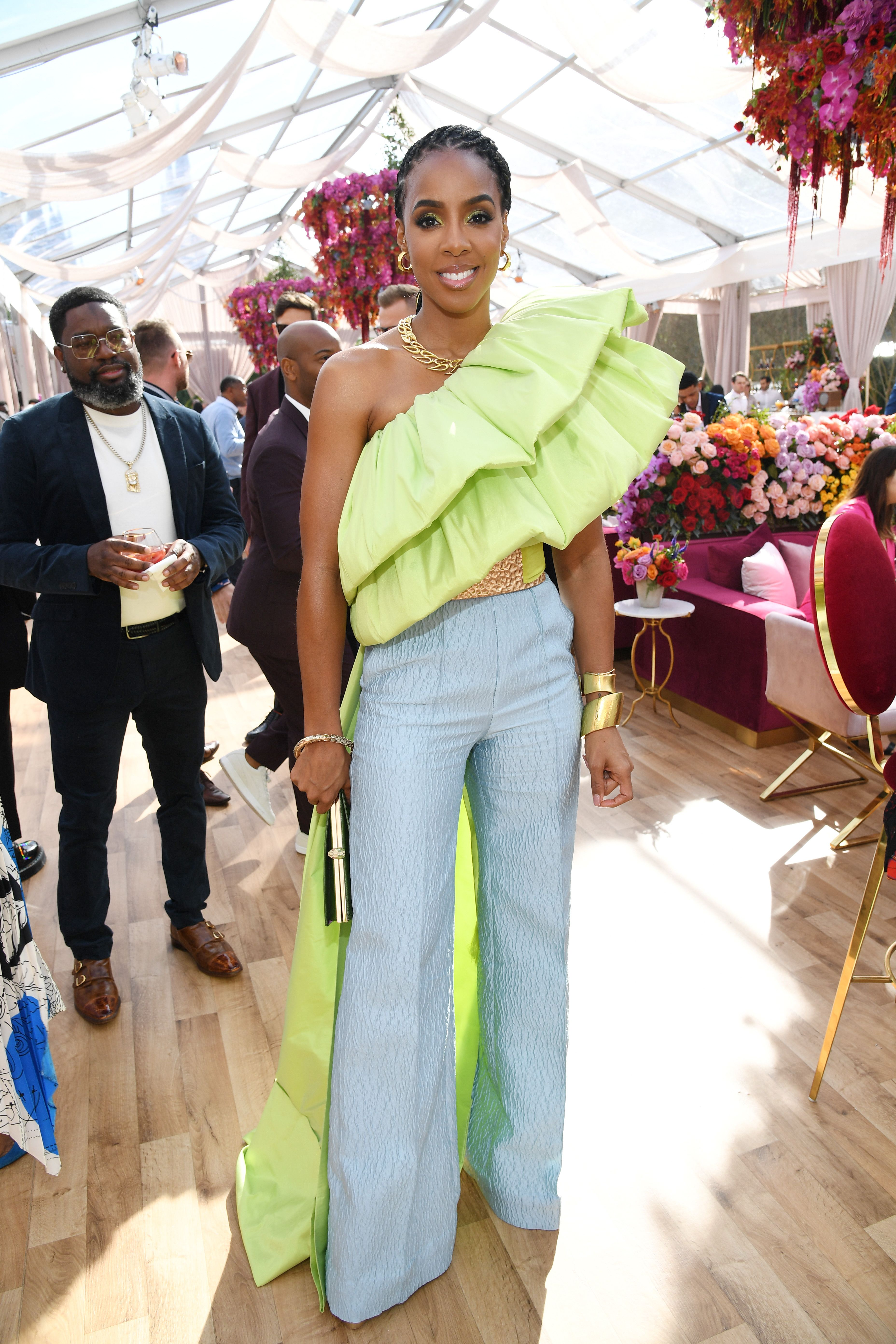 """Singer Kelly Rowland at Roc Nation's """"The Brunch"""" on January 25, 2020 in Los Angeles. │Photo: Getty Images"""
