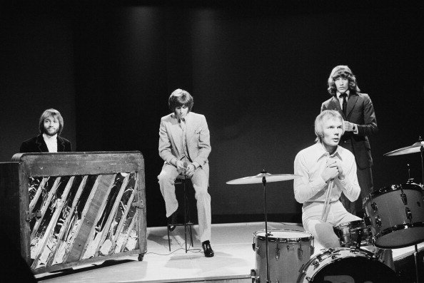 Bee Gees performing on the BBC TV show 'Top Of The Pops', London, 6th March 1969.| Photo: Getty Images