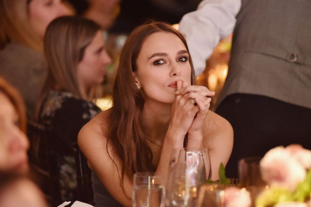 Keira Knightley at ELLE's 25th Annual Women In Hollywood Celebration in 2018 in Los Angeles, California   Source: Getty Images