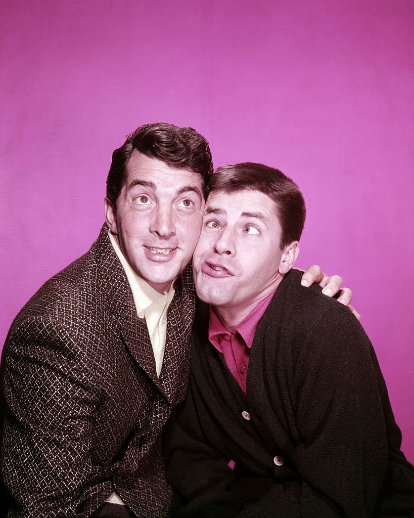 American actor and singer Dean Martin (1917 - 1995, left) with his screen partner, comedian Jerry Lewis, circa 1955.   Source: Getty Images