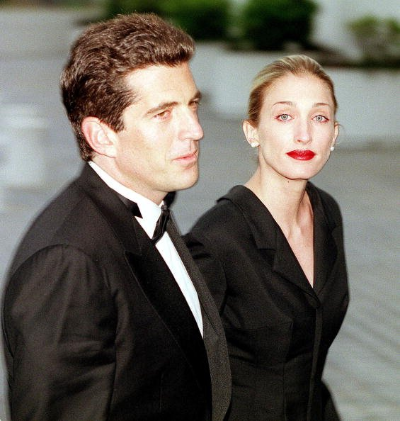 John F. Kennedy Jr. and Carolyn Bessette on May 23, 1999 at the Kennedy Library in Boston, MA.   Photo: Getty Images