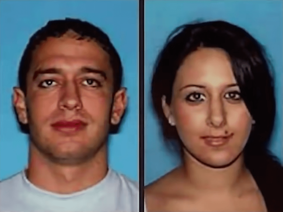 Picture of Shaha Mishaal Adham and her boyfriend Brian Scofield after they were called in for questioning | Photo: YouTube/Looper