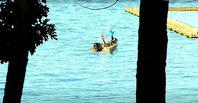 A small boat on the Lake of the Ozark.   Photo: YouTube/ABC 7 News