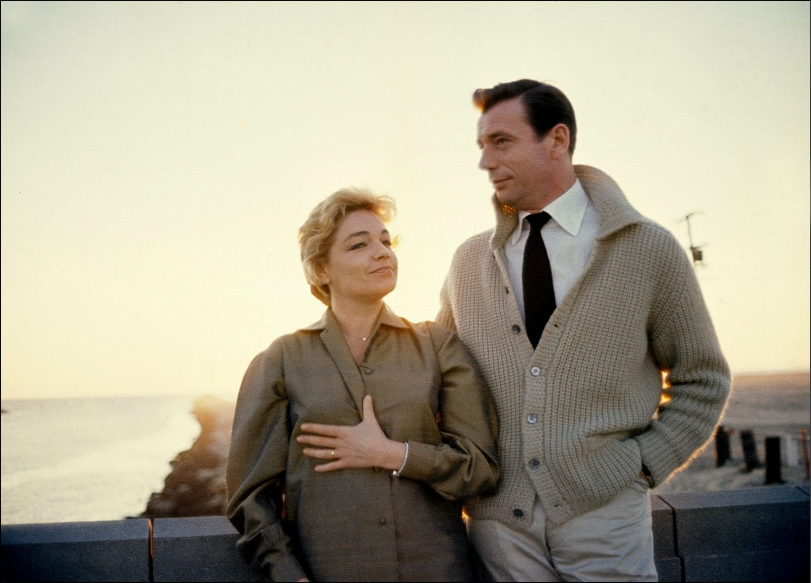 Yves Montand et Simone Signoret   Photo : Getty Images