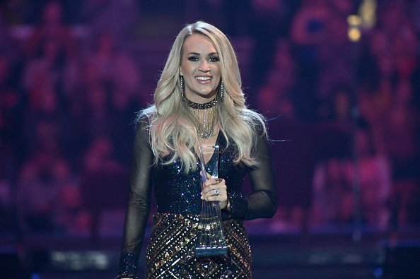 Carrie Underwood receives CMT Artist of the Year award during a remote performance at Rocket Mortgage Fieldhouse on October 16, 2019 in Cleveland, Ohio | Photo: Getty Images