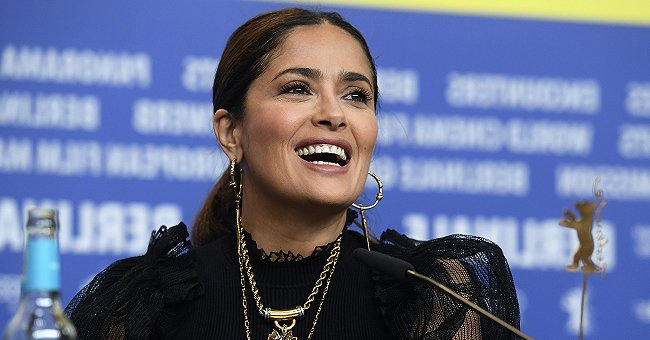 Salma Hayek, 54, Shows Perfect Figure Wearing Pearls in These Throwback Photos