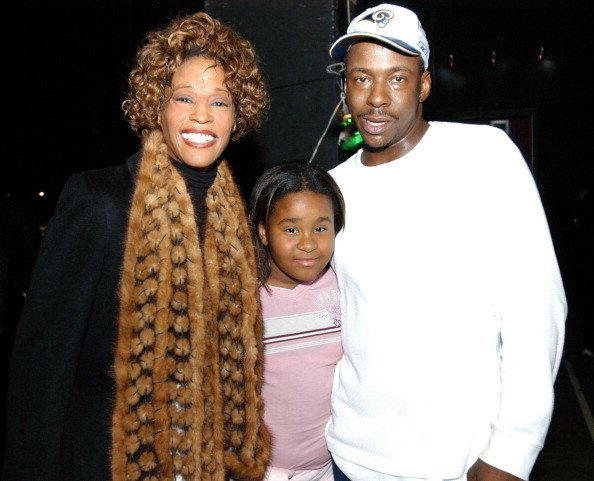Whitney Houston, daughter Kristina and Bobby Brown | Photo: Getty Images