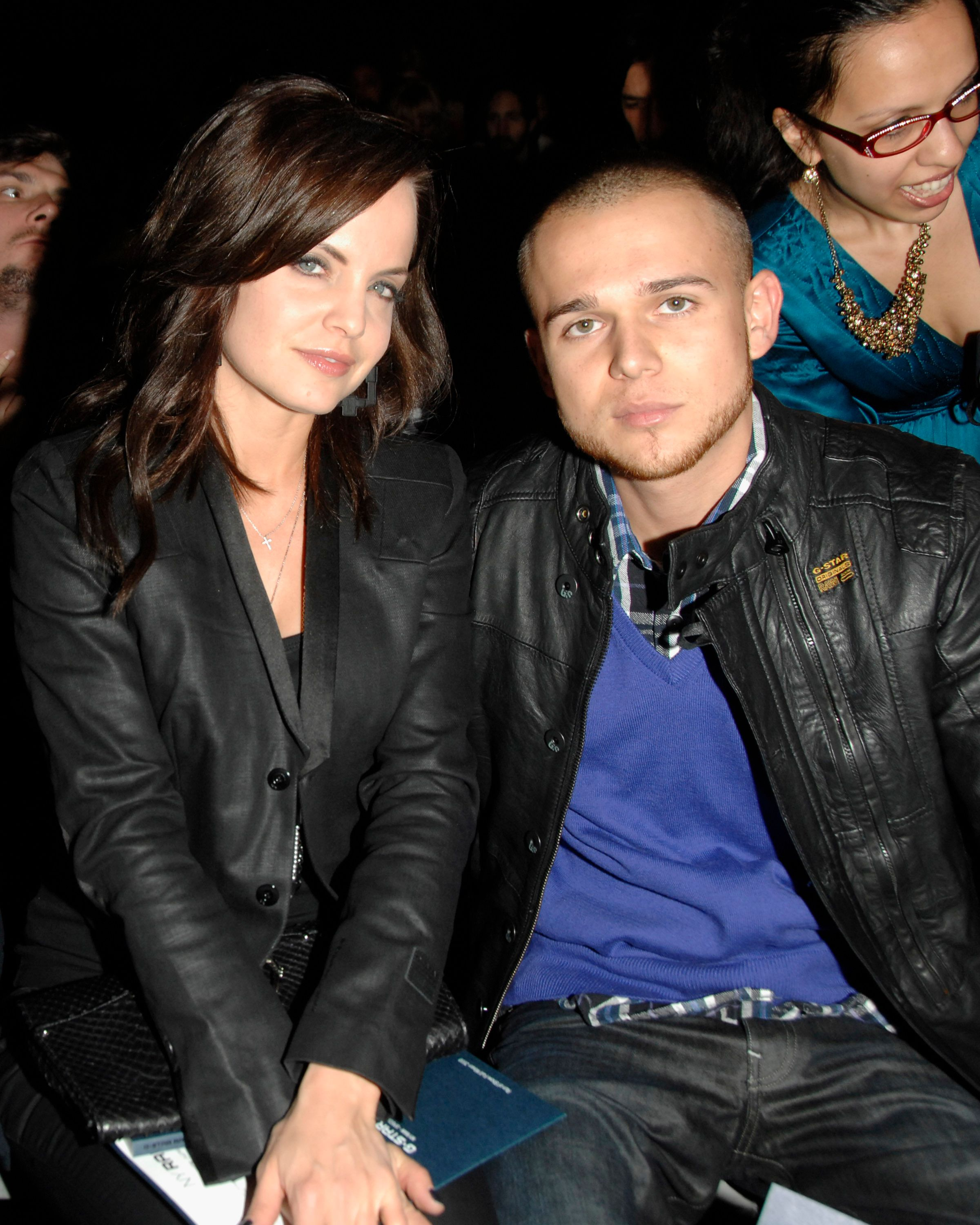 Mena Suvari and Simone Sestito at the NY RAW Fall/Winter 2010 Collection in 2010 in New York City | Source: Getty Images