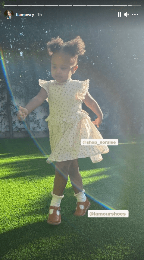 Tia Mowry's daughter, Cairo, pictured enjoying play-time outdoors | Photo: Instagram/tiamowry
