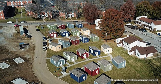 Take a look at tiny houses for homeless veterans that are turning into inspiring small town