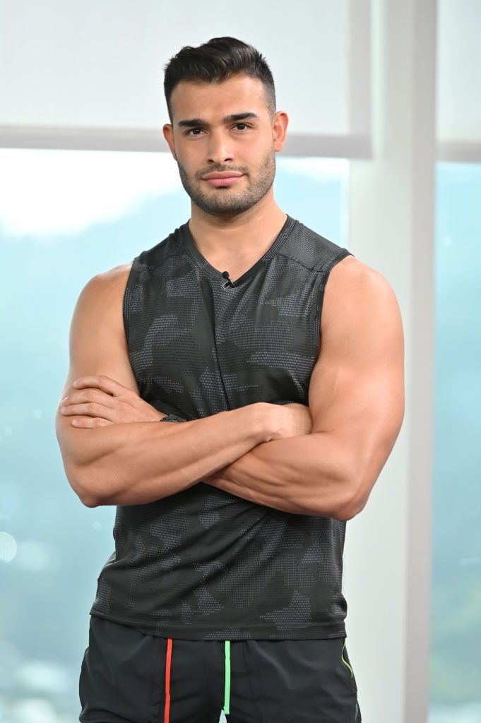 Sam Asghari stops by to work out the Daily Pop team on January 27, 2020 | Photo: Aaron Poole/E! Entertainment/NBCU Photo Bank/Getty Images