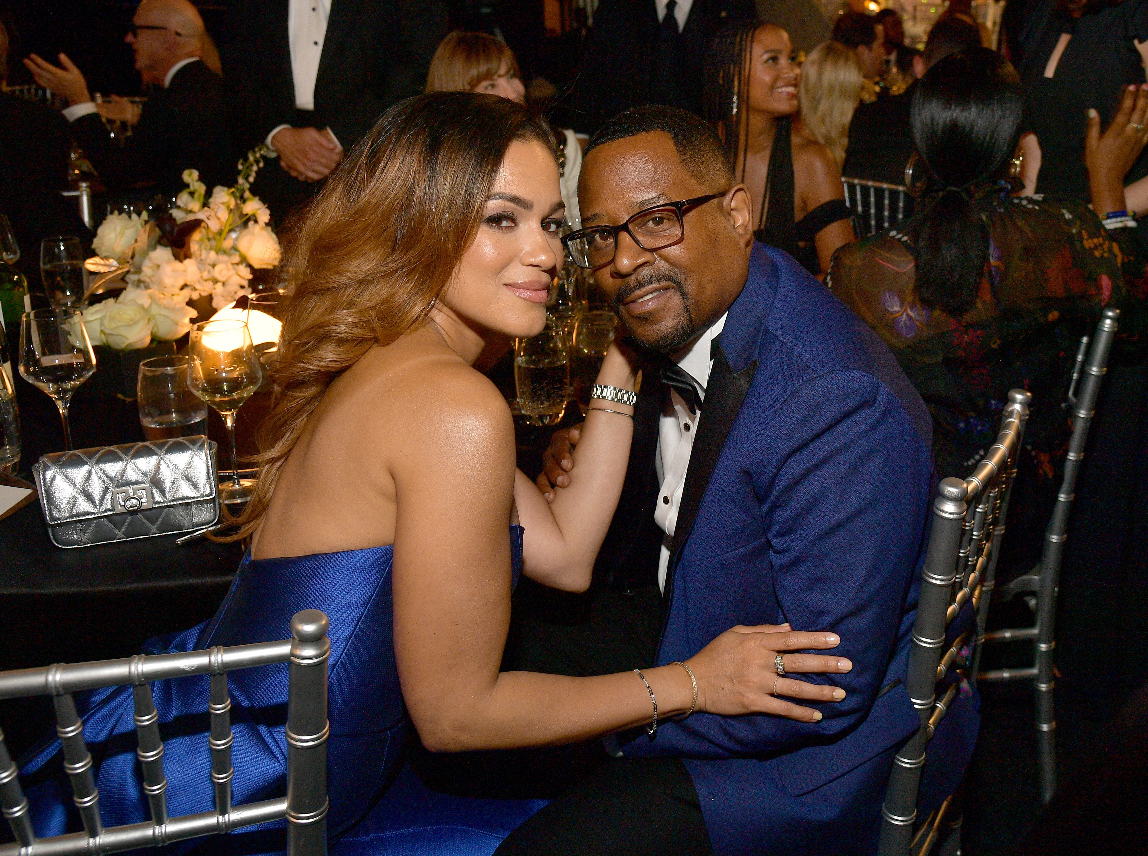 Roberta Moradfar and Martin Lawrence at the 47th AFI Life Achievement Award at Dolby Theatre on June 06, 2019 | Photo: Getty Images