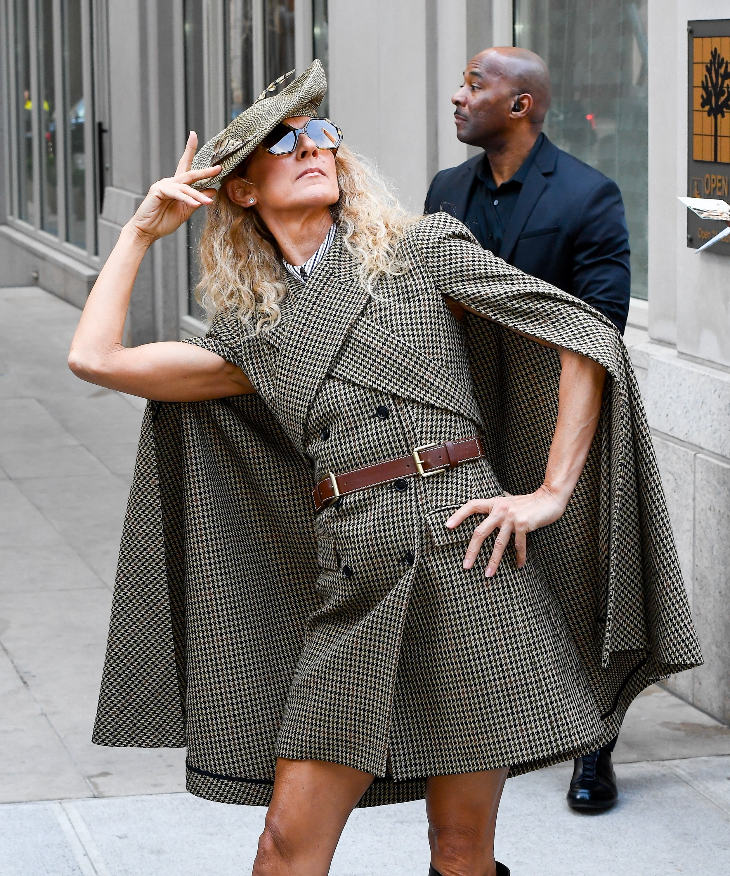 Celine Dion posed for photos on the street in Soho on March 5, 2020 in New York City. | Source: Getty Images