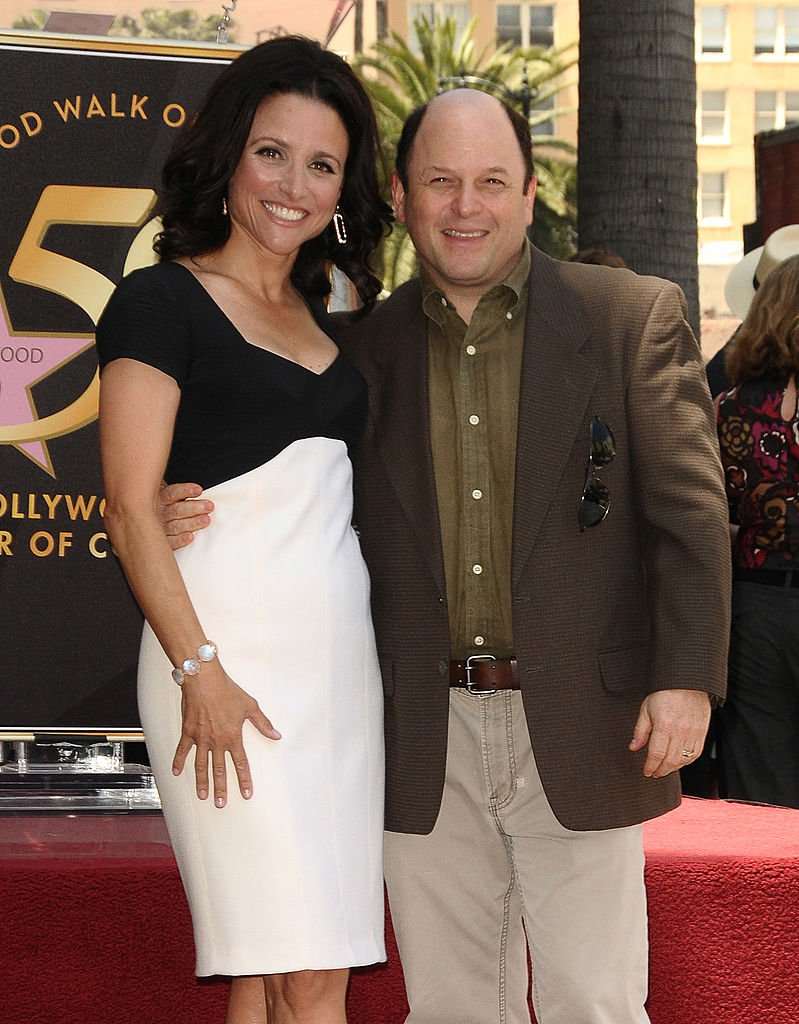 Julia Louis-Dreyfus and Jason Alexander attend her induction into the Hollywood Walk of Fame on May 4, 2010.   Photo: Getty Images