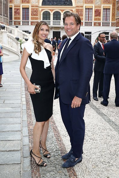 Michael Weatherly and wife Bojana Jankovic attend the cocktail party of the 57th Monte Carlo TV Festival at the Monaco Palace on June 18, 2017, in Monte-Carlo, Monaco. | Source: Getty Images.
