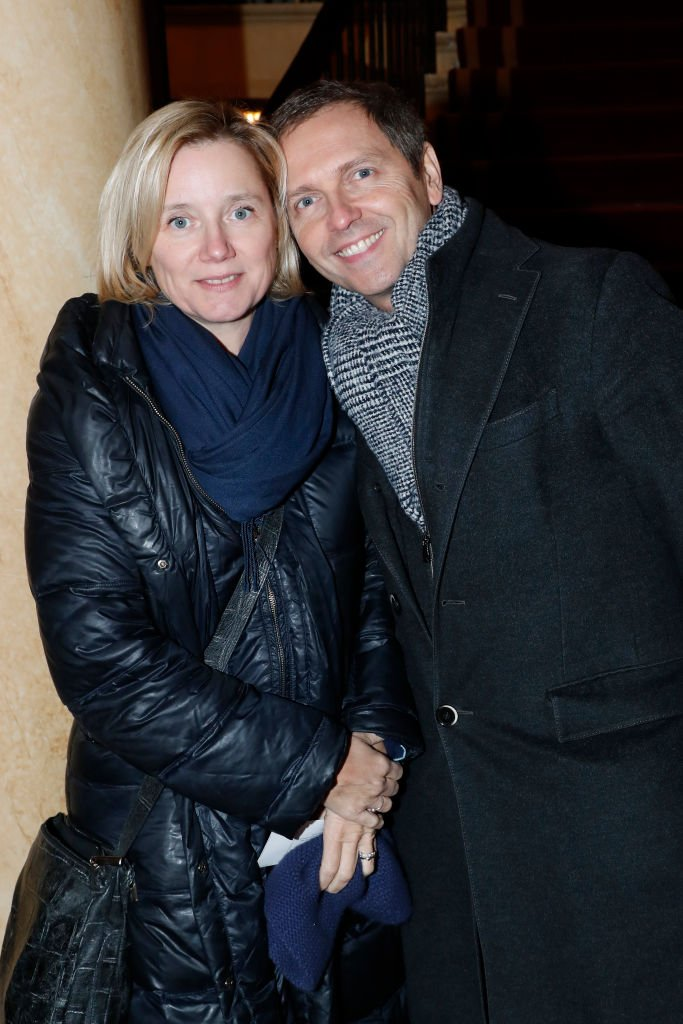 Thomas Hugues et Isabelle Roche le 28 janvier 2019 à Paris. l Source : Getty Images