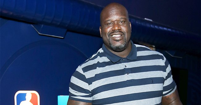 Shaquille O'Neal Gets Slammed for Wearing 'Them Shoes' Again as He Poses near Lavish Red Car