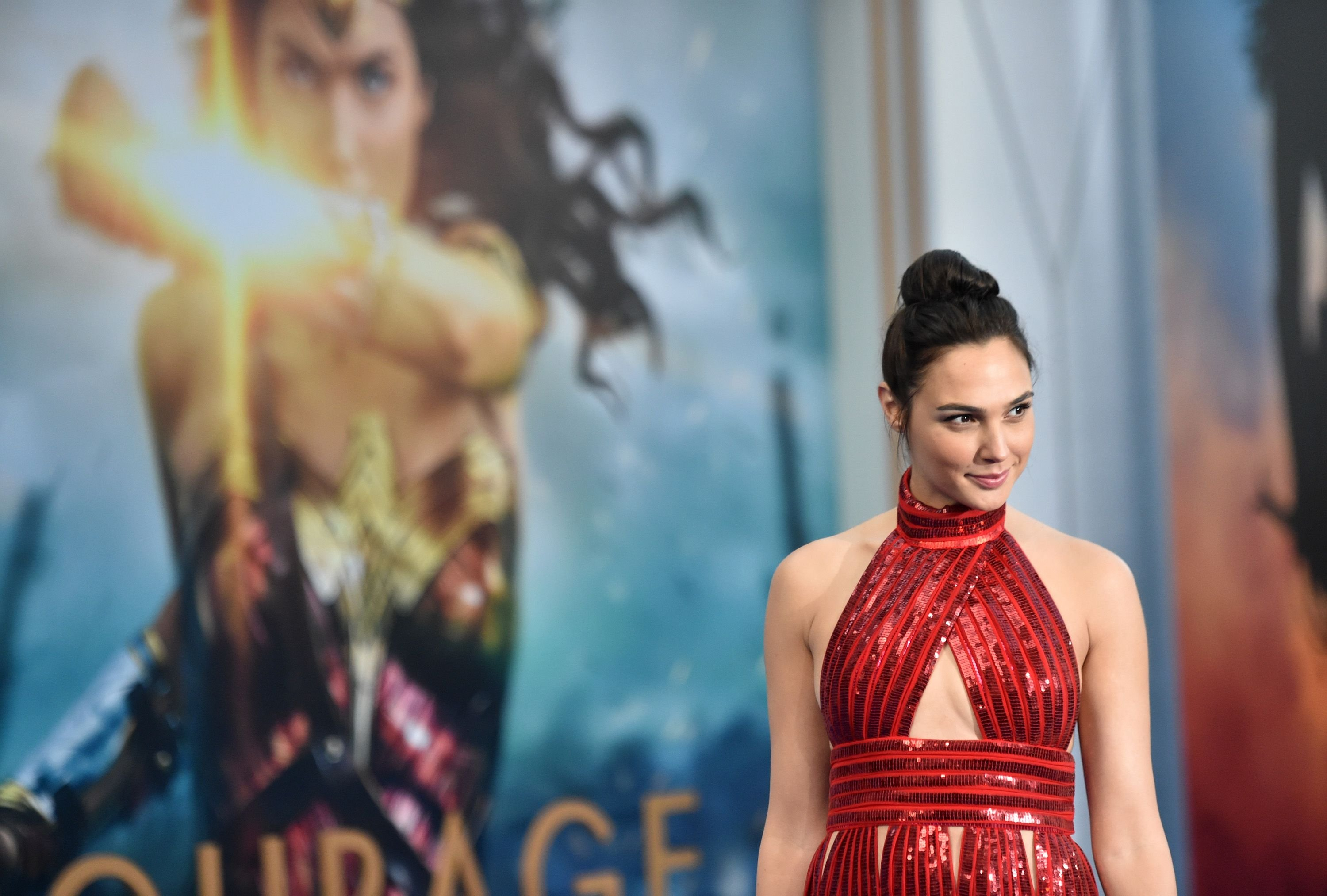 """Gal Gadot at the premiere of """"Wonder Woman"""" in 2017 in Hollywood, California   Source: Getty Images"""