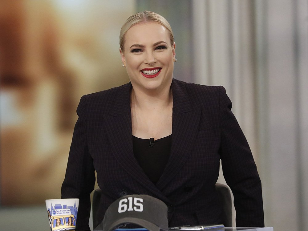 """Meghan McCain taping an episode of """"The View"""" without studio audience in March 2020. I Image: Getty Images."""