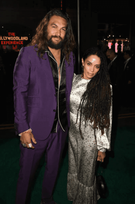 """Jason Momoa and Lisa Bonet on the red carpet for the premiere of the """"Joker,"""" on September 28, 2019, California 