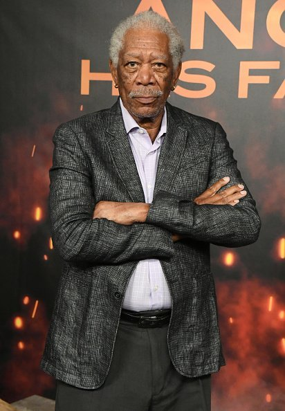 "Morgan Freeman at the Photocall For Lions Gate's ""Angel Has Fallen"" on August 16, 2019 