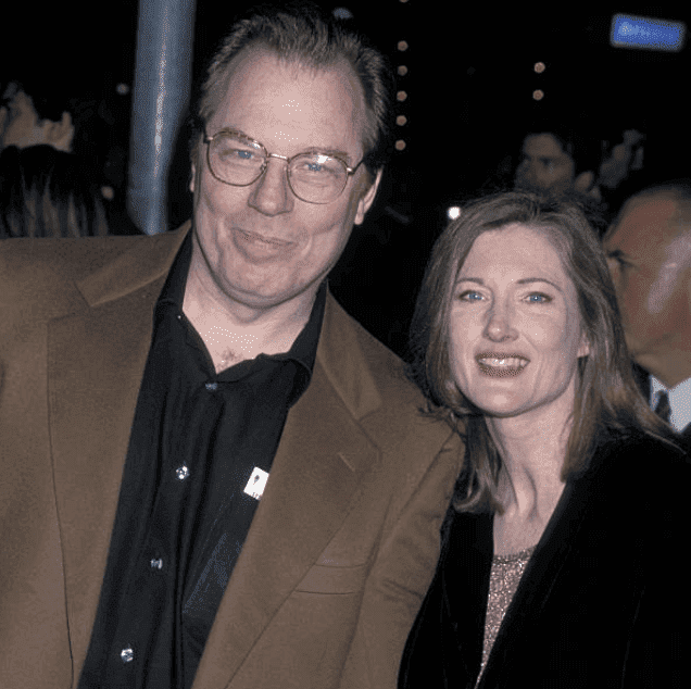 "Michael McKean and his wife, Annette O'Toole arrive at a screening fo ""'Here On Earth,"" on March 15, 2000 ,at AMC Theater, in Santa Monica, California 