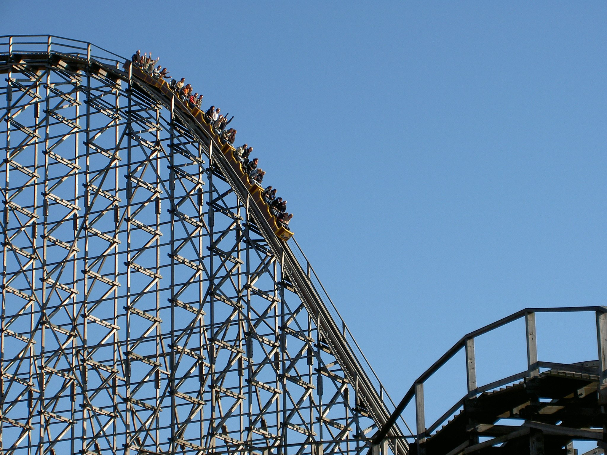Photo of people on a rollercoaster.   Photo: Pexel