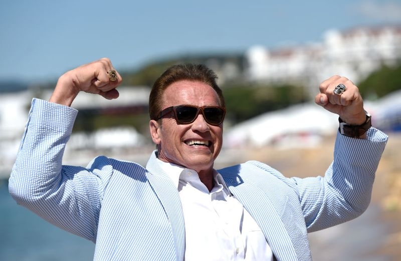 Arnold Schwarzenegger at the 70th annual Cannes Film Festival at Nikki Beach on May 20, 2017   Photo: Getty Images