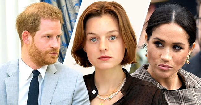 The Wrap: Emma Corrin Admits Knowing That Harry & Meghan Watch Her Playing Diana Is Stressful