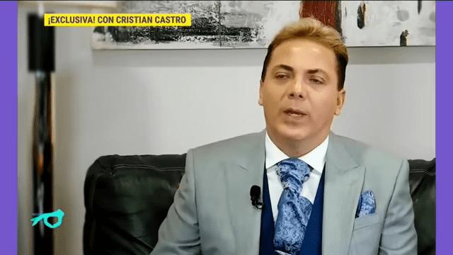 Cristian Castro declarando | Imagen tomada de: YouTube / Imagen Entretenimiento