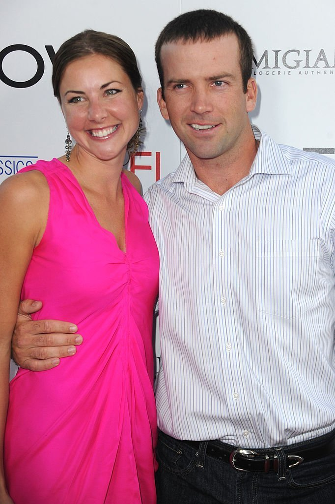 Lucas Black and his wife Maggie O'Brien. I Image: Getty Images.