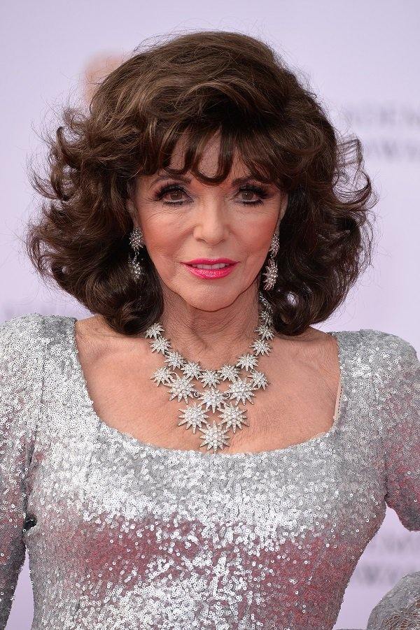 Joan Collins on May 14, 2017 in London, England | Source: Getty Images