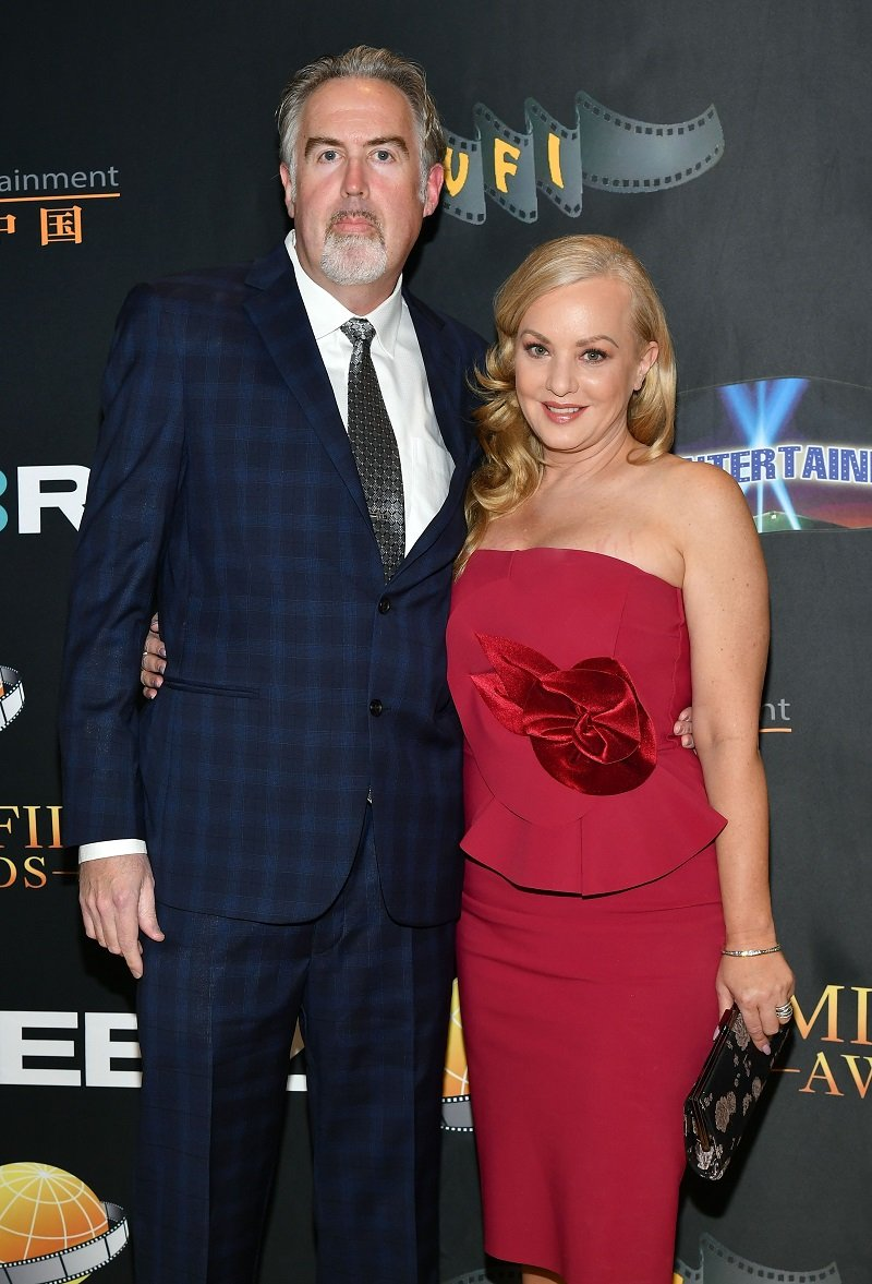 Greg Covey and Wendi McLendon-Covey on March 24, 2021 in Universal City | Photo: Getty Images