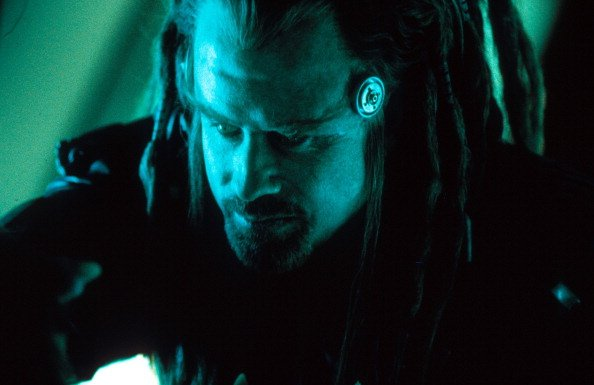 John Travolta in scene from the film 'Battlefield Earth', 2000. | Source: Getty Images