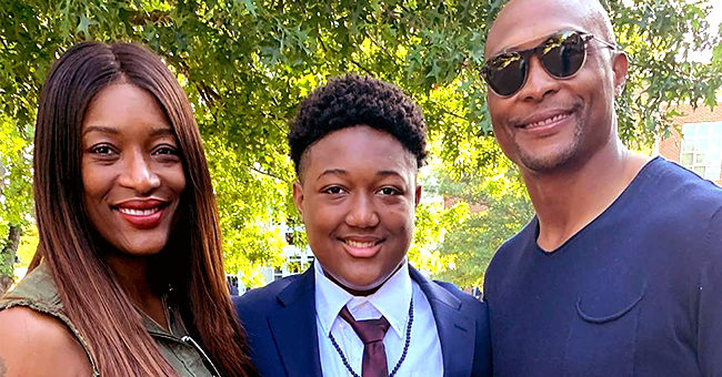 Ex-NFL Star Eddie George's Teen Son with Taj of SWV Recently Got His Freshman Patch