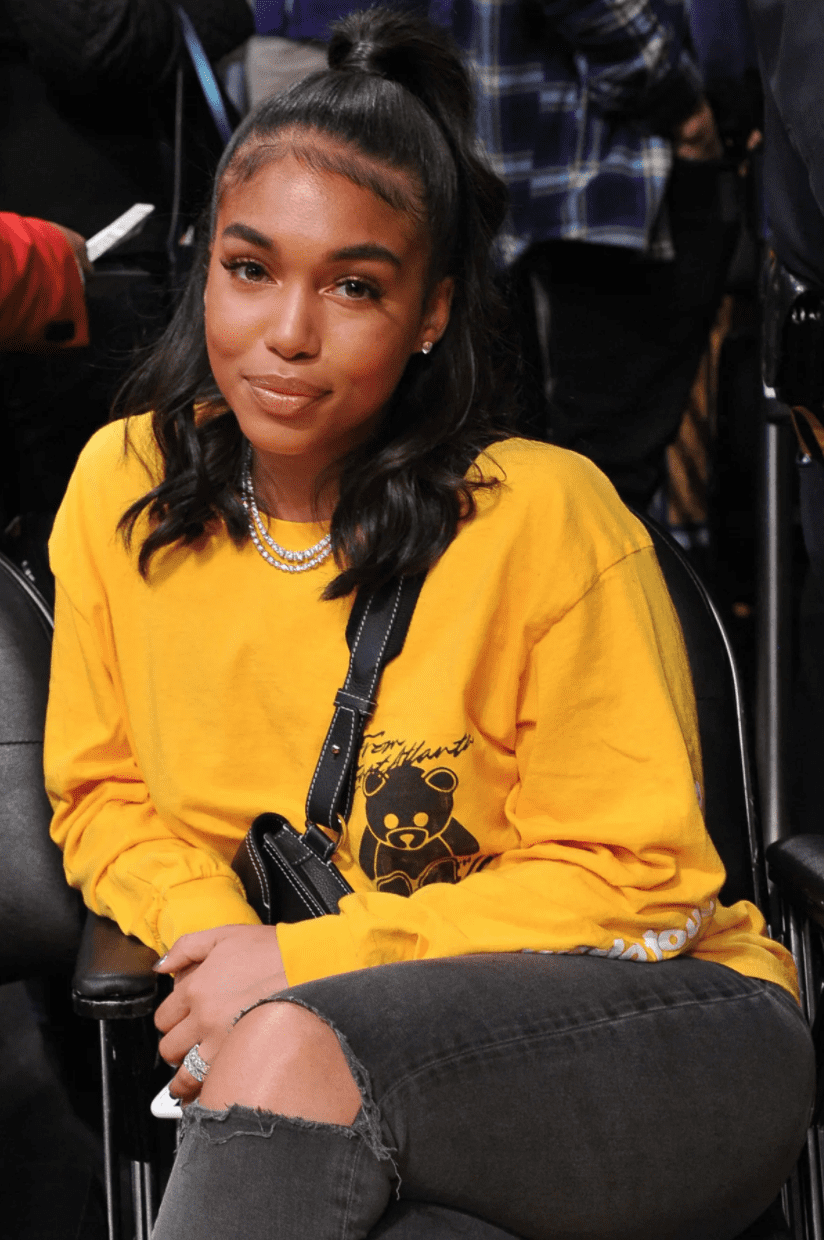 Lori Harvey at Staples Center for a basketball game between the Los Angeles Lakers and the Sacramento Kings on December 30, 2018 in Los Angeles, California.   Source: Getty Images