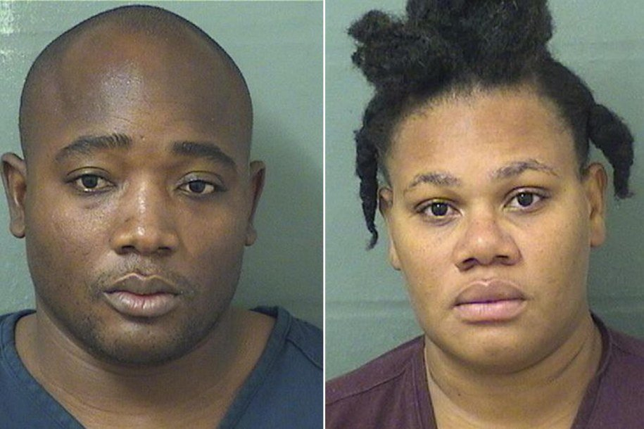 Jolanda Alexandre and Makenson Alexandre's mughshots. | Source: Palm Beach County Jail