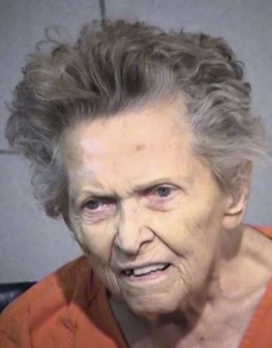 Anna Mae Blessing died before she could stand trial for the murder of her son   Picture: Maricopa County Sheriff's Office.